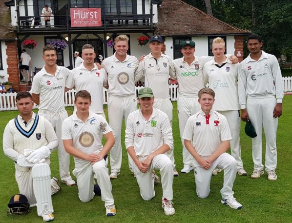 The Martlets team to play Hurstpierpoint College