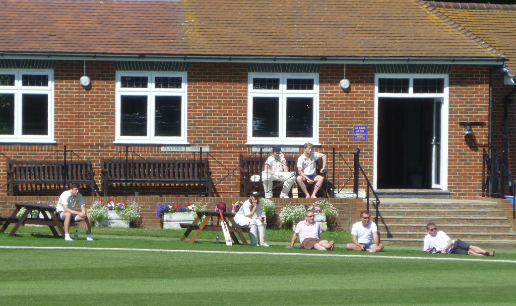 The Martlets watching intently in the sun at Eastbourne