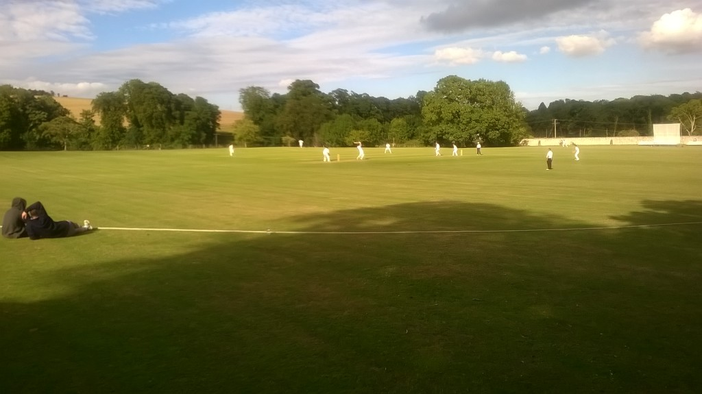 Hector Loughton striking a fine drive for four