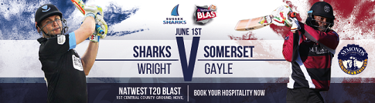 T20 Blast – Wright v Gale – 1 June at Hove
